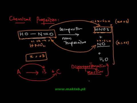 FSc Chemistry Book2, CH 4, LEC 10: Preparation and Chemical Reactions of Nitrous Acid  (Part 1)