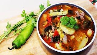 Овощное Рагу с Мясом Картошкой и Кабачками. Лейгкий рецепт из овощей и мяса.