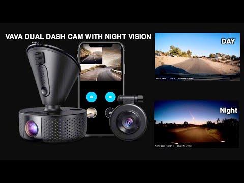 VAVA Dash Camera VD002 Dual 1080P dash cam 2560 x1440P Front with night vision plus Wi-Fi phone app