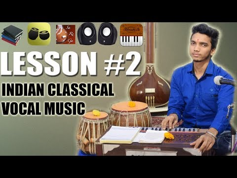 Indian Classical Vocal Music Online - Lesson 2 (Basic Materials & Apps) for Learning Music