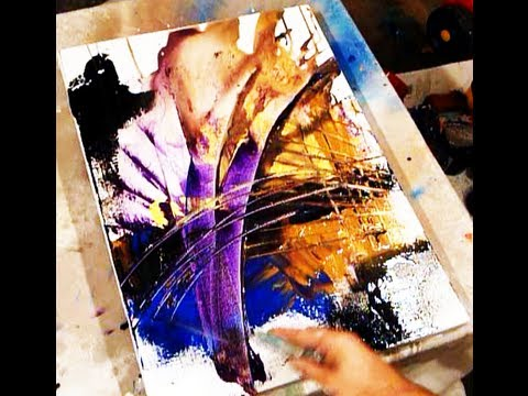 Two Best Tricks In Creating Acrylic Painting Effects And New Abstract Ideas With Peter