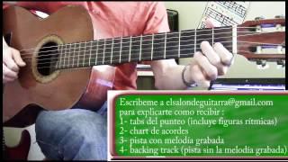 Lagrimas Negras Punteo / Primera Guitarra / Melodía