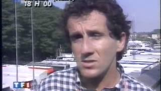 Entrevue Prost suite à l'accident d'Ayrton Senna