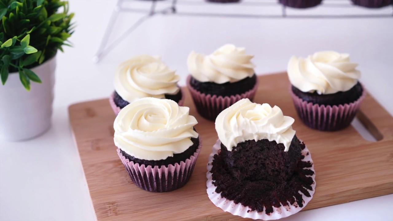 Easy Moist Chocolate Cupcake Recipe Youtube