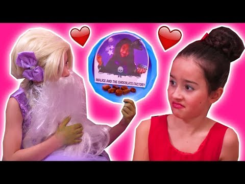 VALENTINE'S DAY SPECIAL: Malice's Chocolate Gift Prank - Princesses In Real Life | Kiddyzuzaa