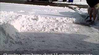 Calories Burned Shoveling Snow