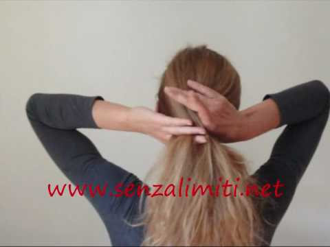 Hochsteckfrisur Banane Haarspange Haarforke Haarstab Instructions