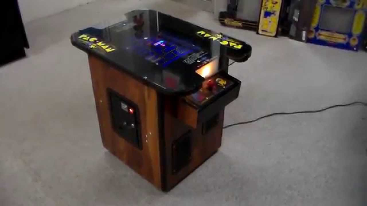 Pacman Table Game >> Vintage 1980 Pac Man Cocktail Table Arcade Game Cabinet Overview