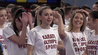 All together: KARATE OLYMPIC SPORT!