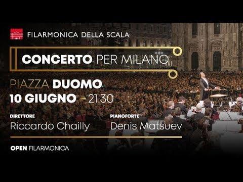 """Concerto per Milano 2018: Riccardo Chailly e la Filarmonica della Scala """"Open Air"""" in Piazza Duomo"""