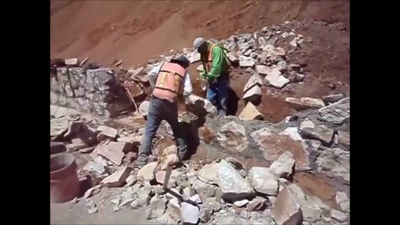 Como construir muro piedra facil y sencillo youtube - Como se construye una casa ...