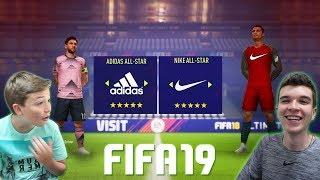 TIME ADIDAS X TIME NIKE NO FIFA 19 X MEU IRMÃO!!!! QUAL É O MELHOR???