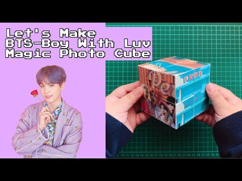 [Orikame] Let's Make BTS (방탄소년단) '작은 것들을 위한 시 (Boy With Luv)' Magic Photo Cube