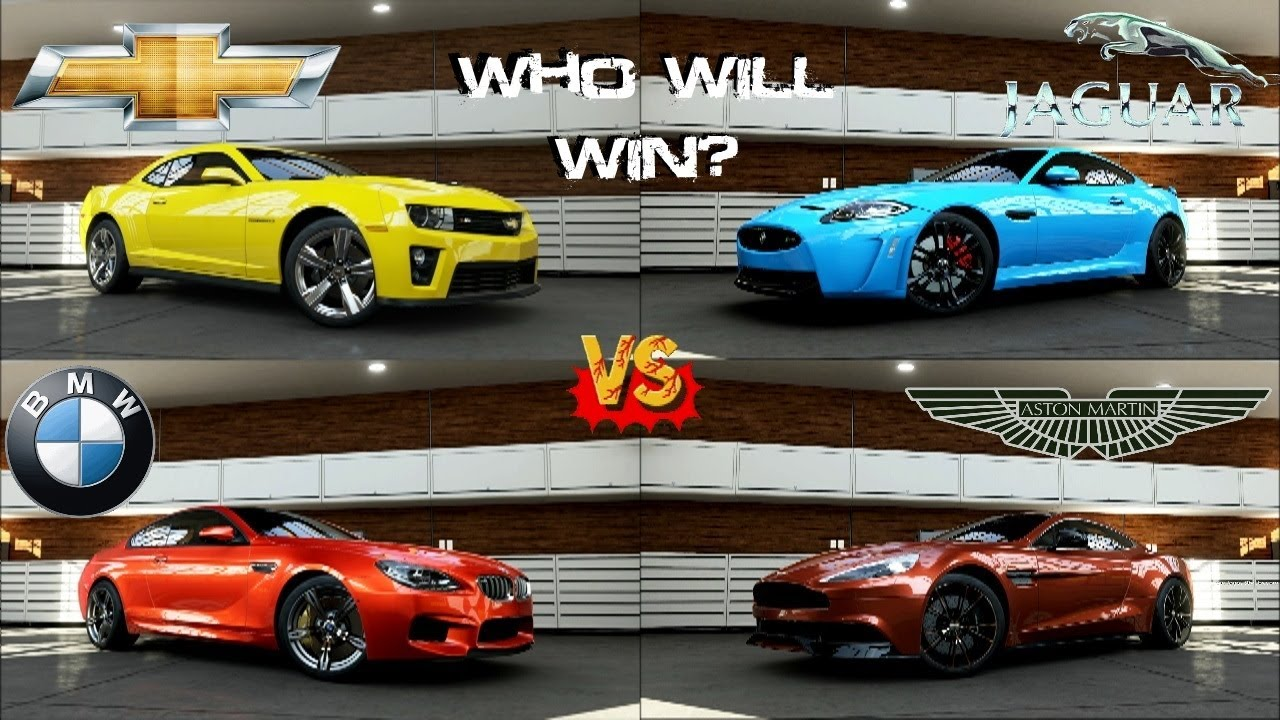 forza 5 - bmw m6 vs camaro zl1 vs jaguar xkr-s vs aston martin