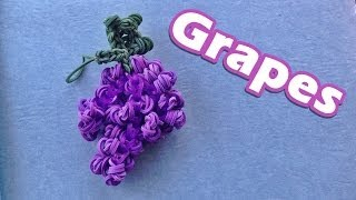Rainbow Loom Charms: GRAPES Design / Tutorial (DIY Mommy)