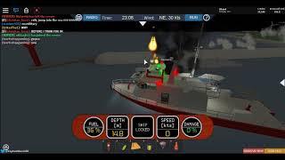Roblox Dynamic Ship Simulator 3 (FEU DE BATEAU DE PECHE A L ENTREE D UN PORT!!!)