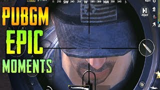 PUBG MOBILE EPIC & LUCKY MOMENTS | BEST PUBGM FUNNY & WTF MOMENTS