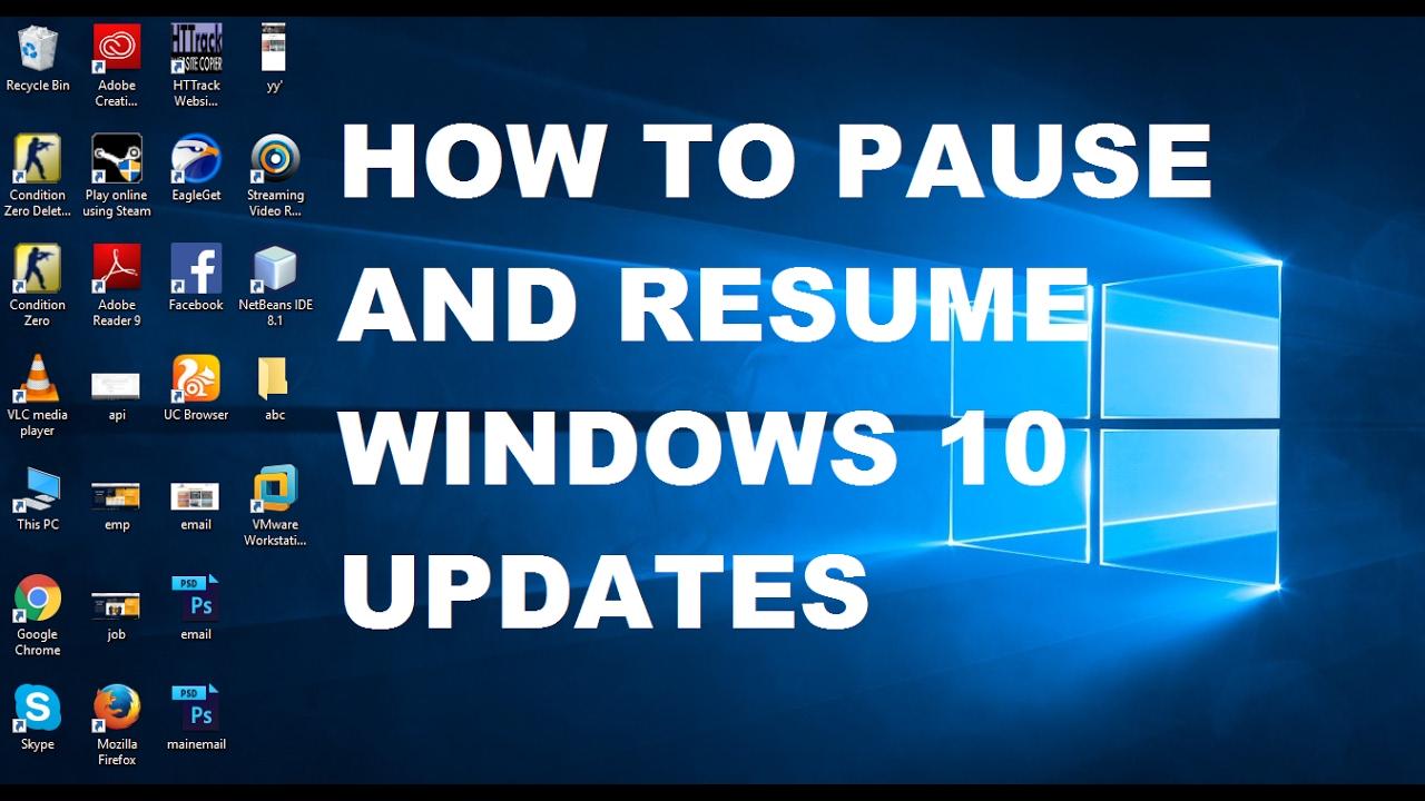 resume update windows 10