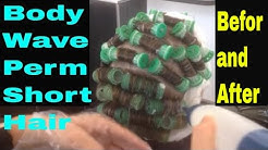 Body Wave Perm Short Hair before and after