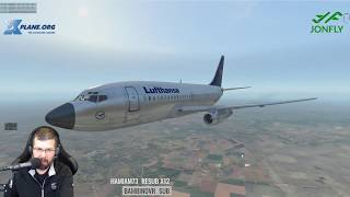The NEW FlyJSim 732 V3 TwinJet KAUS to KCRP Part 2 of 2