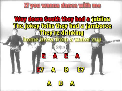 Rock and Roll Music Beatles best karaoke instrumental lyrics chords