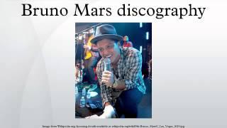 Bruno Mars discography