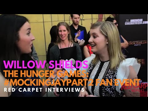 Willow Shields PrimroseEverdeen at the The Hunger Games: MockingJayPart2  Event