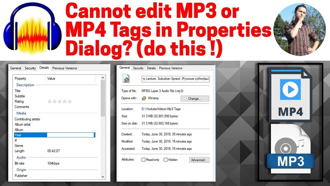 How to edit id3 tags for wav files