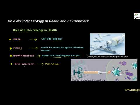 Role of Biotechnology in Health and Environment, General Science Lecture   Sabaq.pk  
