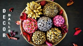 DIY Home Decor - Super Gorgeous Decorative Balls from Recycled Items | Best Craft Idea from Waste