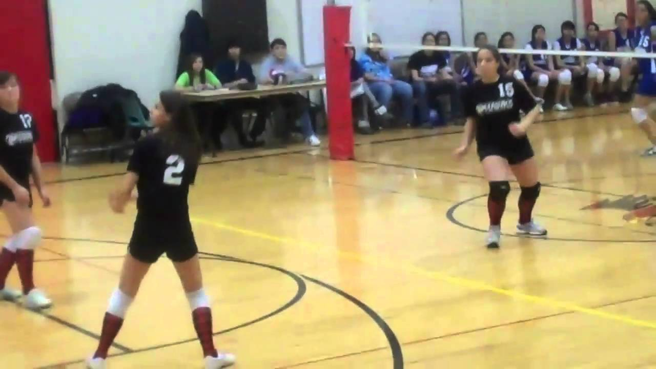 8th Grade Girls Volleyball Game Youtube