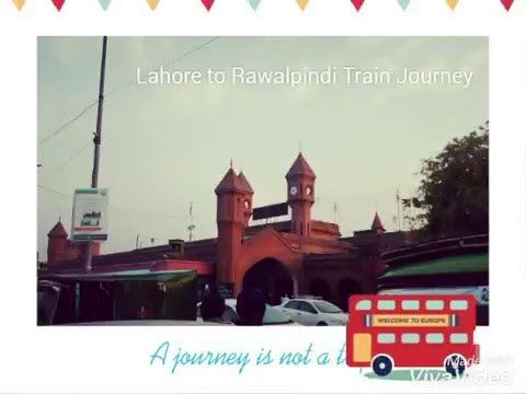 Lahore to Rawalpindi on a Train
