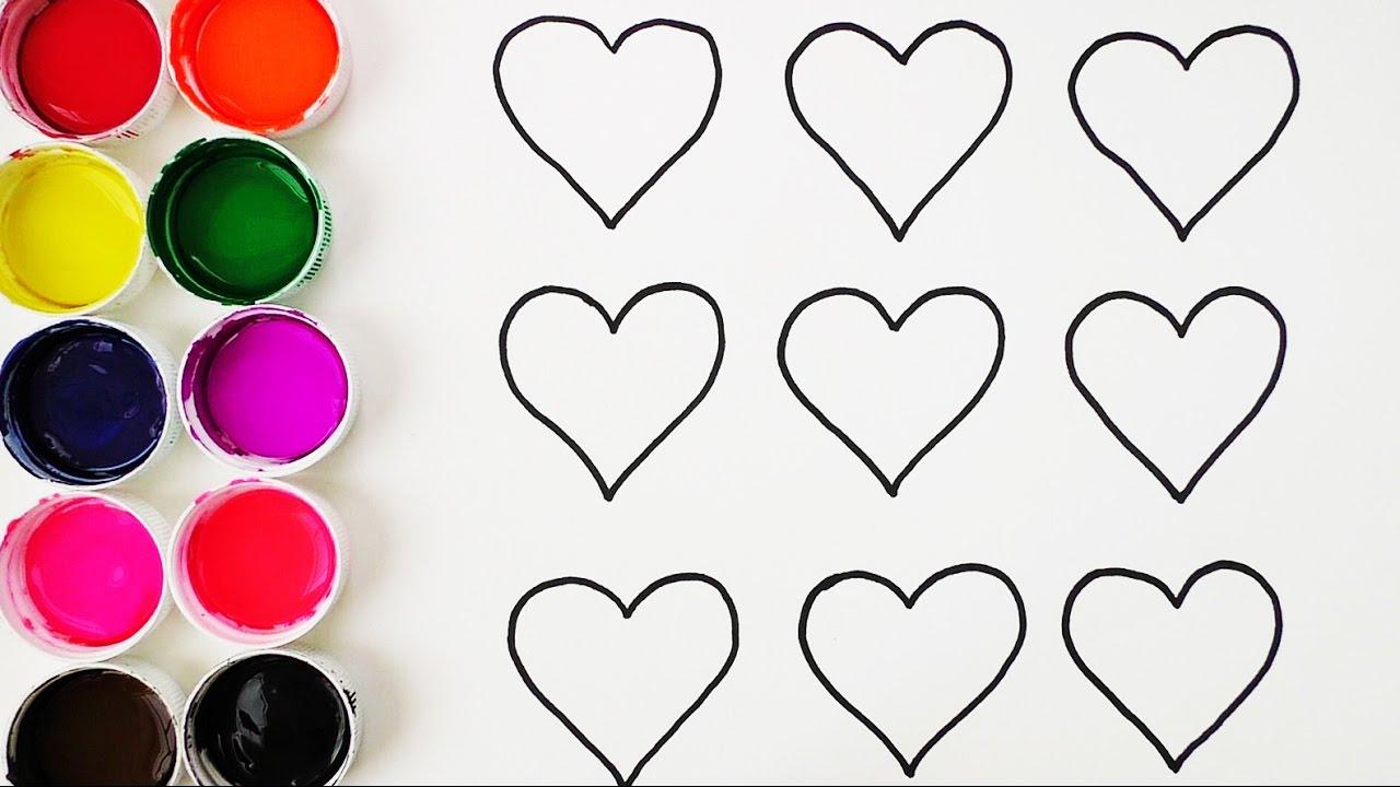 Aprende Los Colores Dibujando Y Coloreando Los Corazones Videos