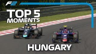 Top 5 Formula 2 Moments | 2019 Hungarian Grand Prix