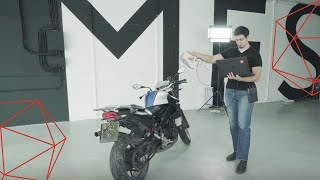 Creating a Precise 3D Model of a Motorbike Using Artec Eva and Artec Space Spider 3D Scanners