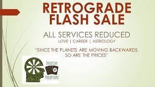 $30 OFF RETROGRADE FLASH SALE! BIGGEST DISCOUNT EVER! DON