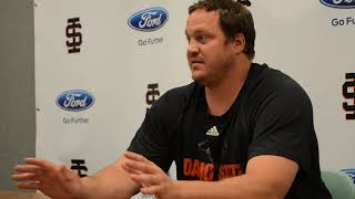 Idaho State football defensive coordinator Roger Cooper media session June 18, 2018