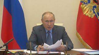 Совещание Путина с правительством РФ в ОНЛАЙН режиме из за ситуации с КОРОНАВИРУСОМ! Полное видео