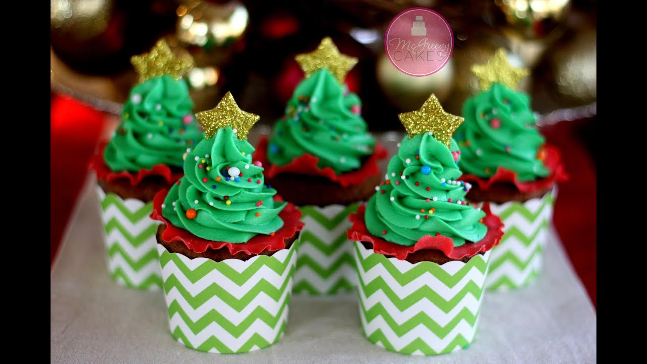 how to make easy christmas tree cupcakes youtube - Easy Christmas Tree