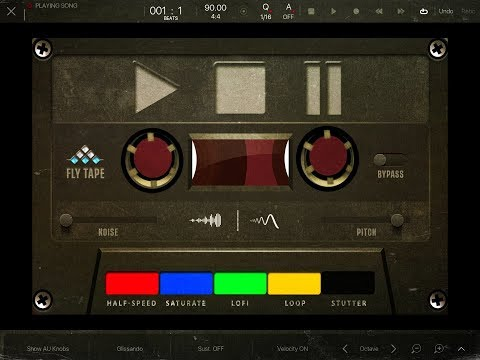 FLY TAPE by MSXII Sound Design - iOS Tape AUv3 FX - Demo for the iPad
