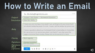 Learn how to write an email that is courteous, professional, and formatted correctly. this video covers each part of gives examples:• subject l...