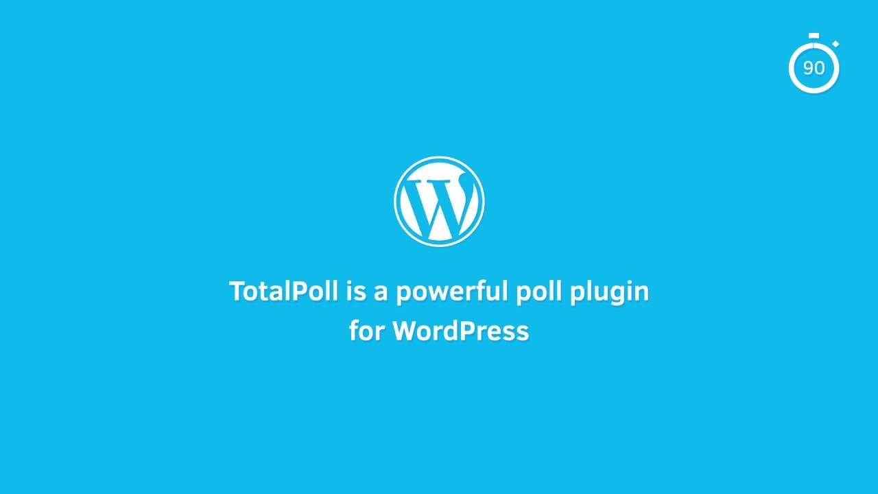 TotalPoll Pro - Responsive WordPress Poll Plugin - YouTube