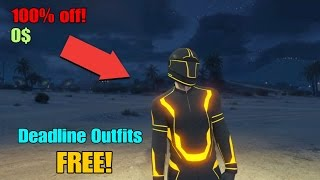 Gta 5 how to get the Deadline outfits for free! *Working December 2016*