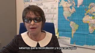 La Eurodiputada Kostadinka Kuneva apoya la paz en Colombia