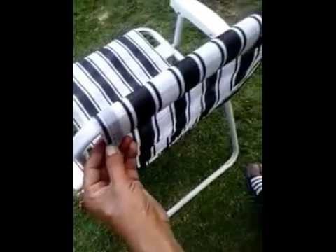 Como restaurar una silla playera  YouTube