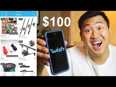 $100 Fishing Shopping Spree On Wish.com
