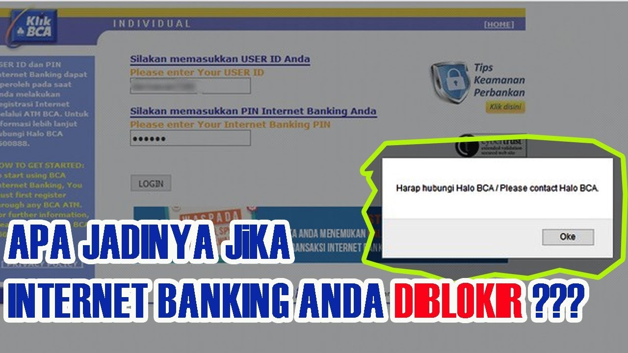 Terbukti Cara Ampuh Reset Password Internet Banking Klik Bca Yang Terblokir Youtube