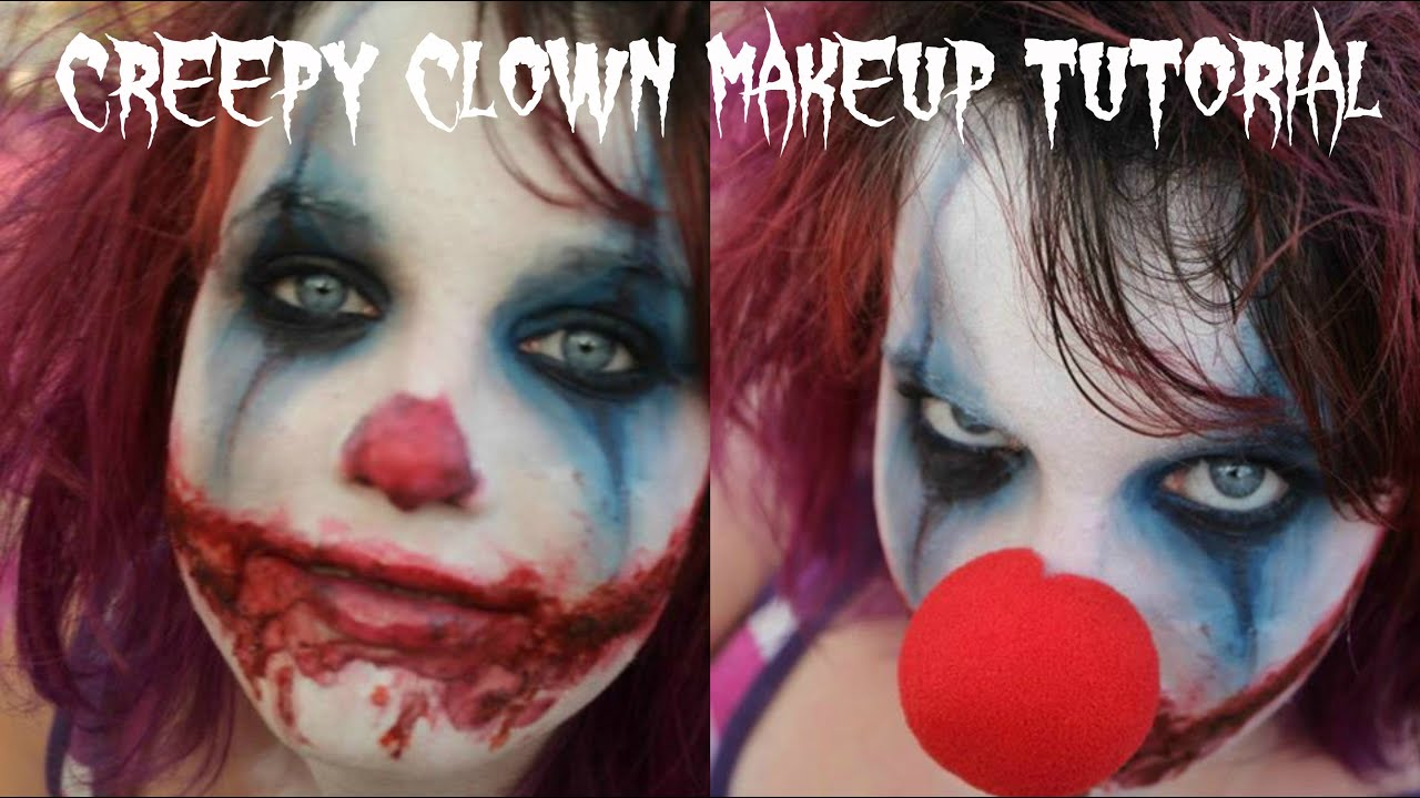 Easy Scary/Evil Clown Halloween Makeup tutorial