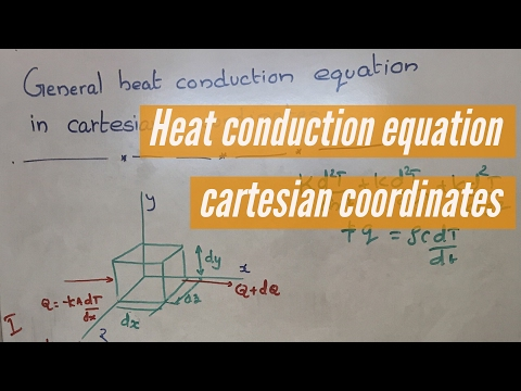 General heat conduction equation in Cartesian coordinates : Basic Heat and Mass Transfer lectures