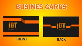How To Learn Design Professional Business Card With Flat Desain In Coreldraw #v1
